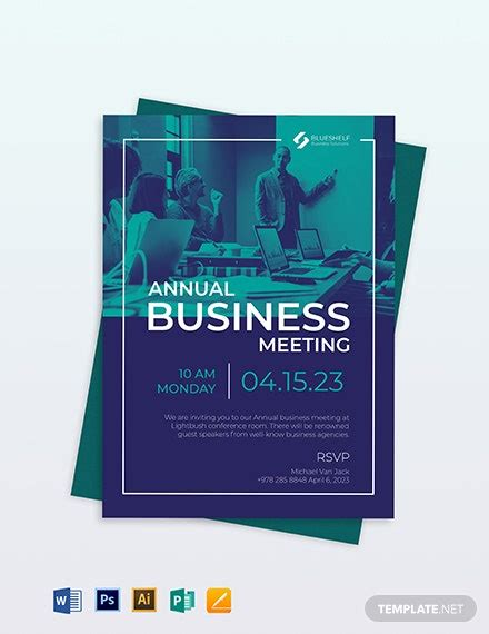 Business Event Email Invitation Template Word PSD