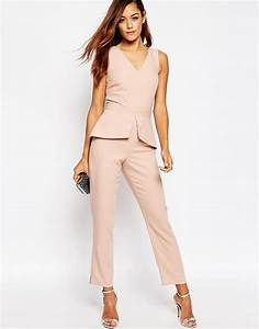 image 1 of asos jumpsuit with peplum detail homcoming With robe pour mariage cette combinaison chevaliere