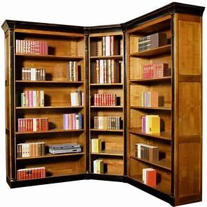 Bibliothèque Design Pas Cher : bibliotheque d 39 angle modulable merisier massif ~ Teatrodelosmanantiales.com Idées de Décoration