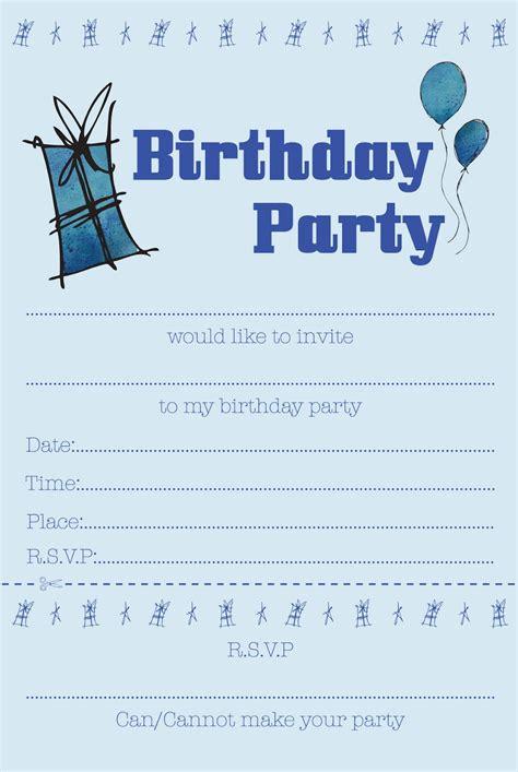 boys birthday party invitations  printable