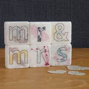 mr and mrs decorative mini letter tiles by With mr and mrs decorative letters