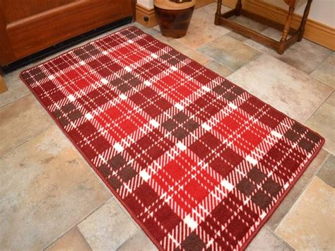 Kitchen Floor Mats For Bad Backs by Small Large Tartan Runners Kitchen Floor