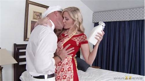 Julia Ann Gets With  Hair Male In Front Of Stepmother