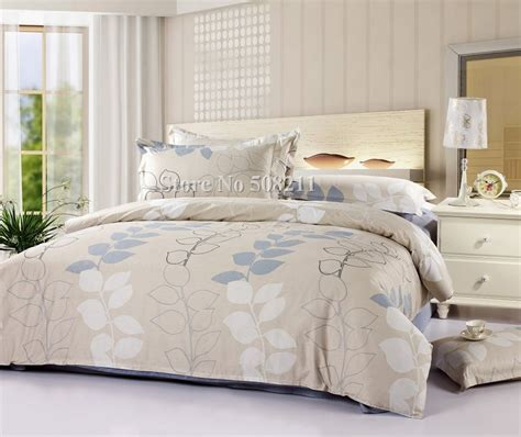 wholesale bedding sets leaves modern pattern cotton