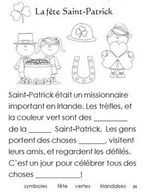 french immersion worksheets  celebrate  holidaysthis