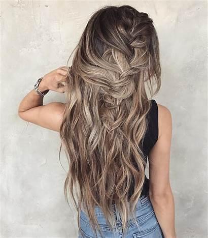 Messy Hair Braided Hairstyle Hairstyles Braid Summer