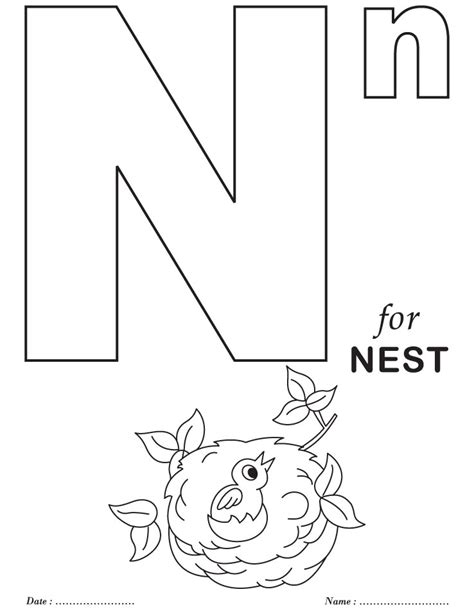 Printables Alphabet N Coloring Sheets  Download Free