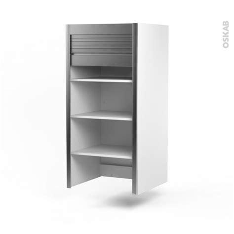 meuble rideau cuisine petit d 233 jeuner coulissant volet aluminium l60 x h121 x p37 cm sokleo
