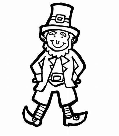 Leprechaun Clipart Coloring Drawing Costume Patrick Seeing