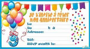 Invitation Anniversaire Fille 9 Ans : invitation anniversaire confettis de 3 9 ans 123cartes ~ Melissatoandfro.com Idées de Décoration
