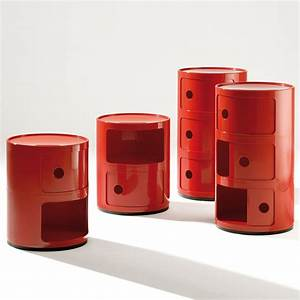 kartell componibili futuristic round storage modules With table de chevet kartell