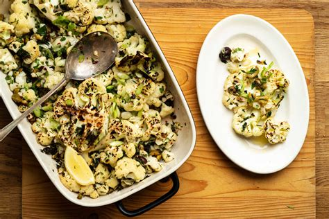 charred cauliflower  anchovies capers  olives