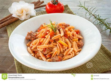 cuisine pasta malloreddus sardinian cuisine stock photography image
