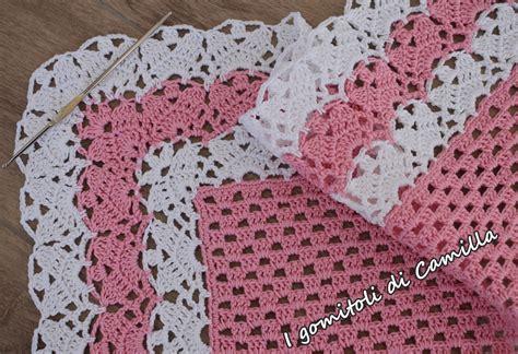 copertine in per awesome bordi uncinetto per copertine neonato yd15 pineglen