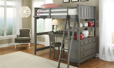 loft bed with desk and chair haynes furniture lakehouse loft bed desk