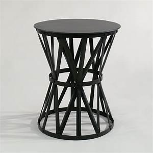 Nachttisch Metall Schwarz : filigraner runder beistelltisch metall industrial vintage ~ Whattoseeinmadrid.com Haus und Dekorationen