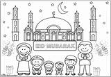 Eid Colouring Sheets Fitr Ul Standing Mosque Muslim Lovely Sheet Colour Where Sky sketch template
