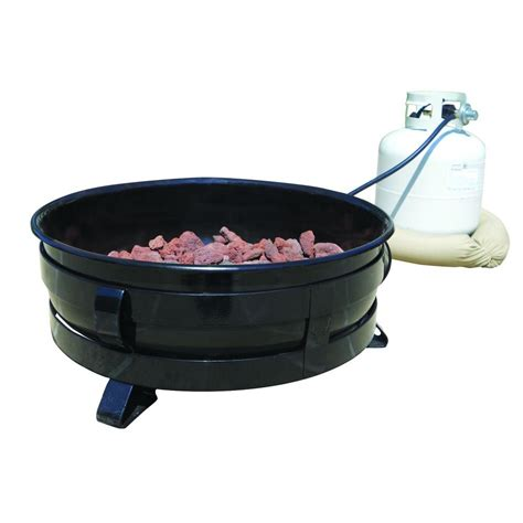 portable gas pit king kooker 24 in portable propane gas pit with