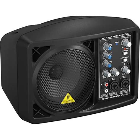 behringer eurolive b205d active pa monitor speaker black