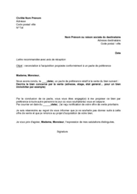 modèle de lettre de renonciation lettre de renonciation 224 l acquisition du bien immobilier