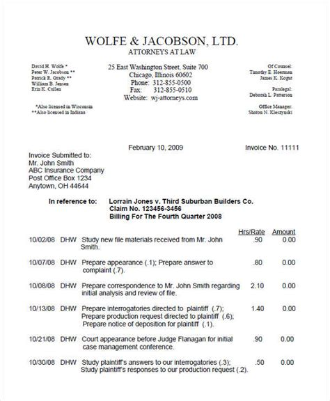 professional invoice examples samples examples