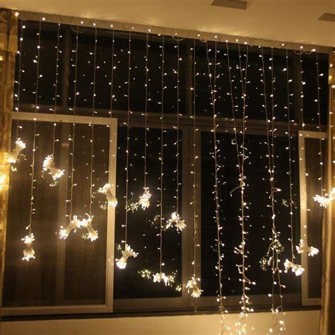 led curtain light christmas ornament flash colored