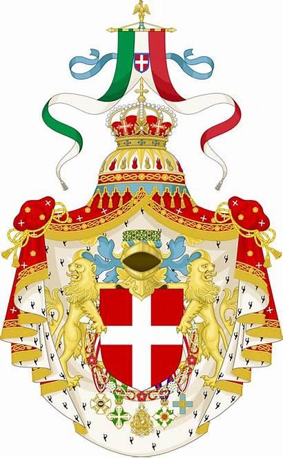 Italy Monarchy Wikipedia Arms Coat Kingdom