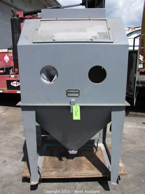 econoline blast cabinet ra 36 1 west auctions auction heavy equipment and machinery