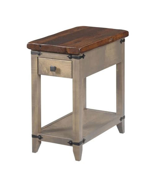 Chair Side Table With L by Frontier Chairside Table Ohio Hardwood Furniture