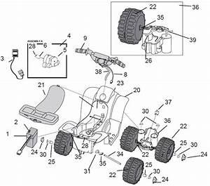 Power Wheels Barbie Lil Trail Rider Parts