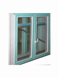 Fenetre pvc blanc double vitrage hauteur 135x100 largeur for Porte fenetre double vitrage pvc