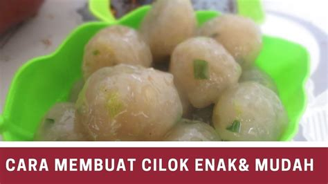 Cara membuat cendol nutrijell : Cara Membuat Cilok Bakso Ala rumahan - YouTube