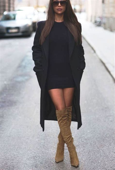 55 Ideas Of Outfit To Wear With Knee High Boots - Instaloverz