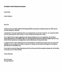 response letters 17free word pdf documents download With replying to a complaint letter template