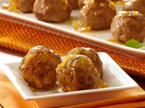 orange glazed turkey meatballs recipe food network