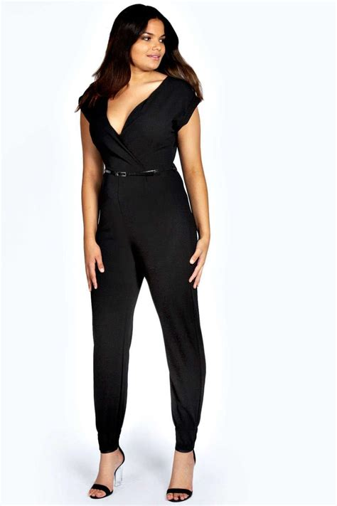 boohoo jumpsuits boohoo womens plus size erin sleeve v neck wrap