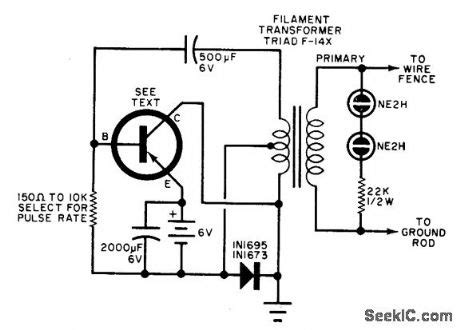 Electric Fence Charger Circuit Diagram