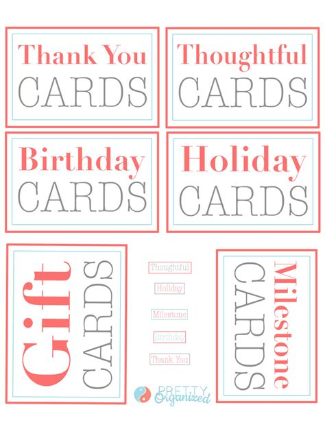 Looking for a good deal on card label? Organized Greeting Card Binder   How to Organize
