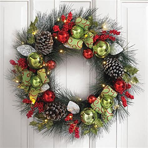 pre lit decorated christmas wreaths diy pre lit artificial wreaths ideas decorating