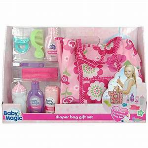 Baby Magic Doll Diaper Bag Gift Set 10 Piece Accessory