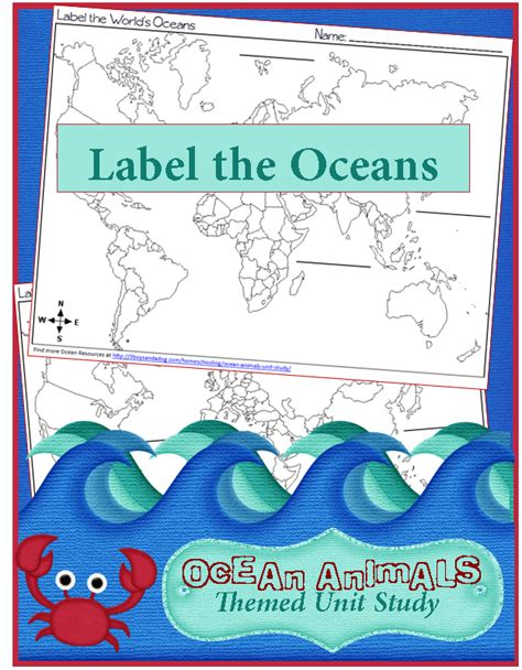 Geography Label The World's Oceans  3 Boys And A Dog