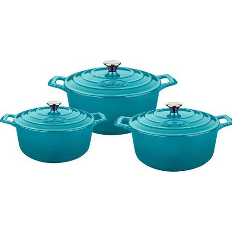 pro cuisine la cuisine pro 6 cast iron casserole set with