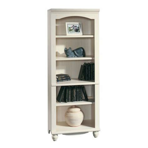 Sauder Bookcase White sauder harbor view bookcase antique white white ebay