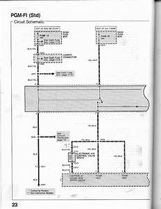 23-0 Pgm-fi Circuit Schematic Std And Dx