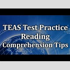 Teas Test Practice  Reading Comprehension Tips Youtube