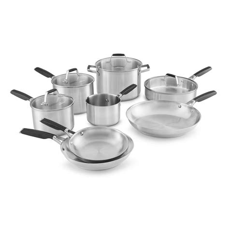 calphalon select  piece stainless steel cookware set