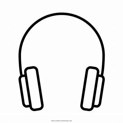 Cuffie Headphones Coloring Colorare Printable Template Complete