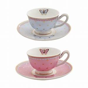 Miss Woodhouse – Set of 2 mini Teacups & Saucers by Bombay