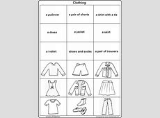 16 Best Images of French Clothes Worksheet Free Printable