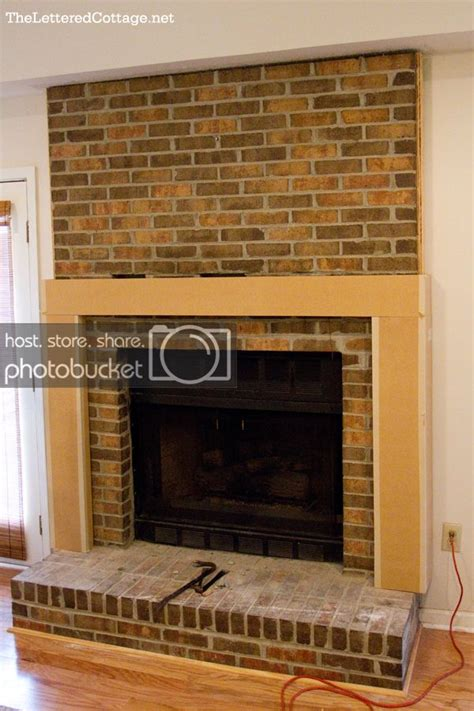 Easy Brick Fireplace Makeover - easy brick fireplace makeovers home design